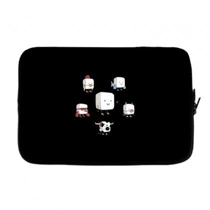 Tofu, Food's Master Of Disguise Laptop Sleeve Designed By Dameart