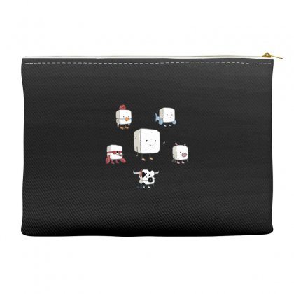 Tofu, Food's Master Of Disguise Accessory Pouches Designed By Dameart