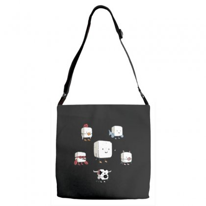 Tofu, Food's Master Of Disguise Adjustable Strap Totes Designed By Dameart