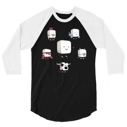 Tofu, Food's Master Of Disguise 3/4 Sleeve Shirt Designed By Dameart