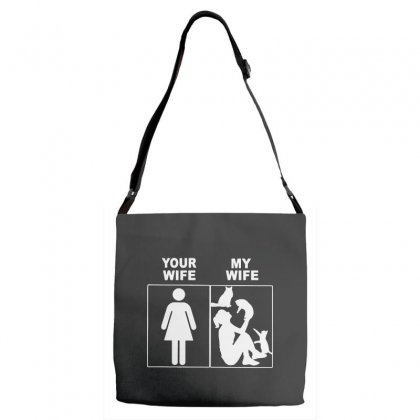 Your Wife My Wife Adjustable Strap Totes Designed By Rodgergise