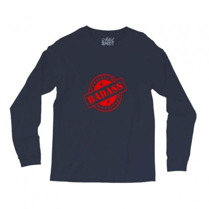Bad-ass Red Graphics Long Sleeve Shirts Designed By Jumanmart