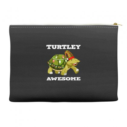 Chirsmas Turtley Awesome Accessory Pouches Designed By Alparslan