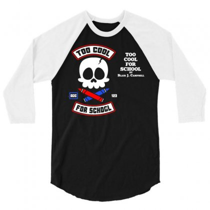 Too Cool For School 3/4 Sleeve Shirt Designed By Dameart