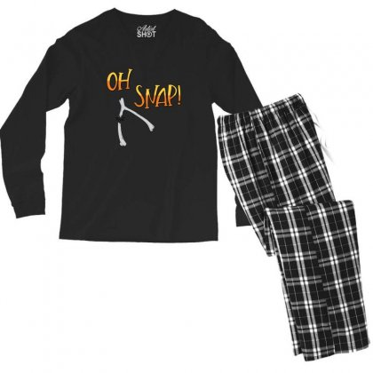 Oh Snap! Turkey Wushbone Thanksgiving Men's Long Sleeve Pajama Set Designed By Sr88