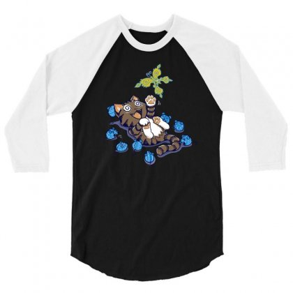 Too Much Catnip 3/4 Sleeve Shirt Designed By Dameart