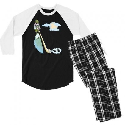 Tooting Your Own Horn Men's 3/4 Sleeve Pajama Set Designed By Dameart