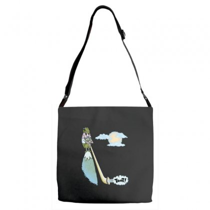 Tooting Your Own Horn Adjustable Strap Totes Designed By Dameart