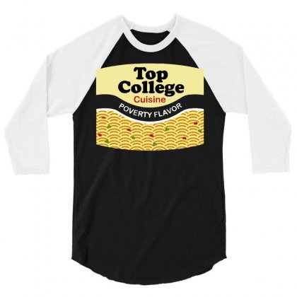 Top College Cuisine 3/4 Sleeve Shirt Designed By Dameart