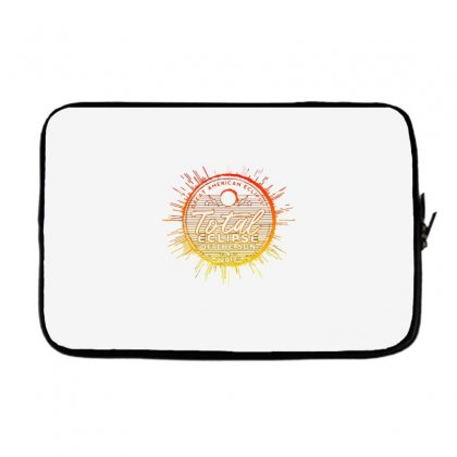 Total Eclipse Of The Sun Laptop Sleeve Designed By Dameart
