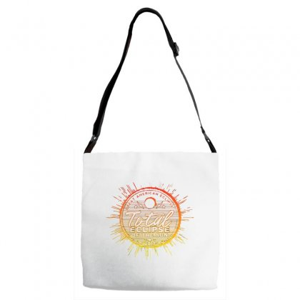 Total Eclipse Of The Sun Adjustable Strap Totes Designed By Dameart