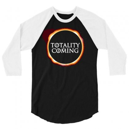 Totality Is Coming 3/4 Sleeve Shirt Designed By Dameart