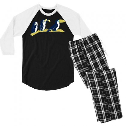 Toucan Play At That Game Men's 3/4 Sleeve Pajama Set Designed By Dameart
