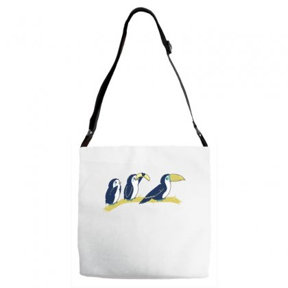 Toucan Play At That Game Adjustable Strap Totes Designed By Dameart