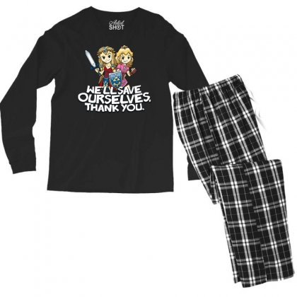Tough Princesses Men's Long Sleeve Pajama Set Designed By Dameart