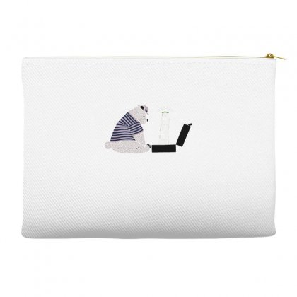 Tourist Bear Visits Italy Accessory Pouches Designed By Dameart
