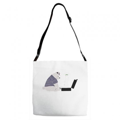 Tourist Bear Visits Italy Adjustable Strap Totes Designed By Dameart
