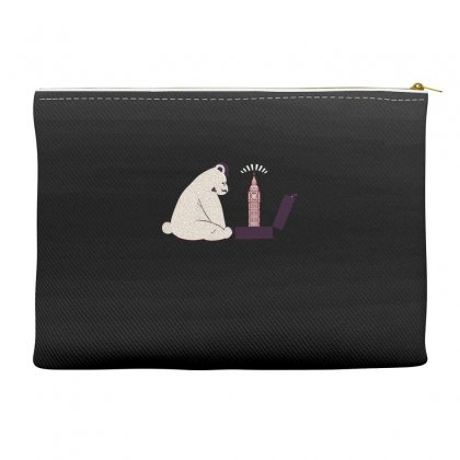 Tourist Bear Visits London Accessory Pouches Designed By Dameart