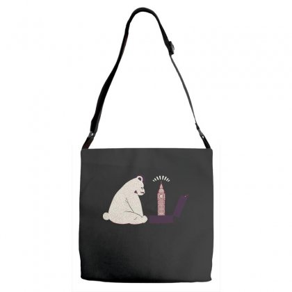 Tourist Bear Visits London Adjustable Strap Totes Designed By Dameart
