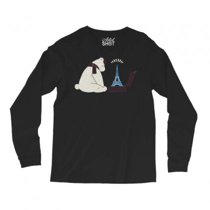Tourist Bear Visits Paris Long Sleeve Shirts Designed By Dameart