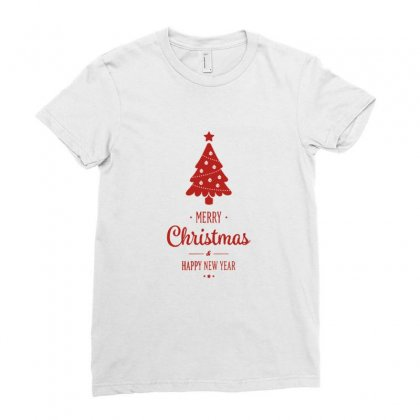 Merry Christmas And Happy New Year Ladies Fitted T-shirt Designed By Sr88