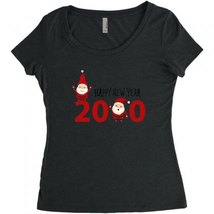 Merry Christmas Xmas Santa Happy New Year Women's Triblend Scoop T-shirt Designed By Sr88