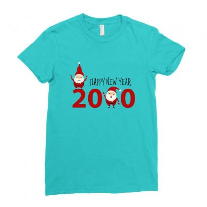 Merry Christmas Xmas Santa Happy New Year Ladies Fitted T-shirt Designed By Sr88