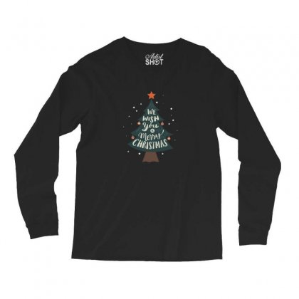 We Wish You Merry Christmas Tree Long Sleeve Shirts Designed By Sr88