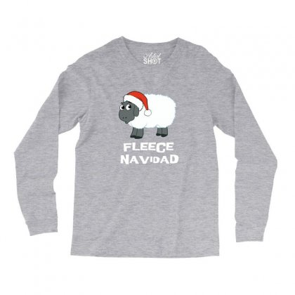 Fleece Navidad Funny Sheep Christmas Long Sleeve Shirts Designed By Sr88