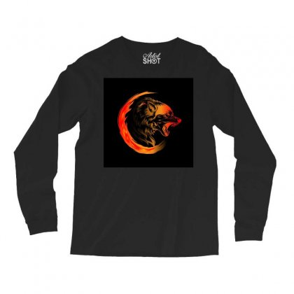 Amoled Wolf Long Sleeve Shirts Designed By Itsjvs