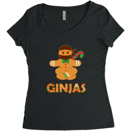 Ginjas Ginger Bread Ninja Christmas Holiday Women's Triblend Scoop T-shirt Designed By Sr88