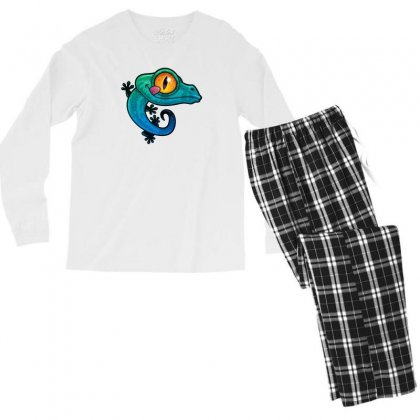 Colorful Gecko Men's Long Sleeve Pajama Set Designed By B4en1