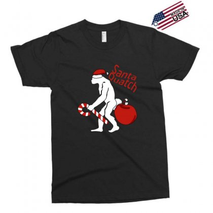 Santaquatch Bigfoot Silhouette Christmas Holiday Exclusive T-shirt Designed By Sr88