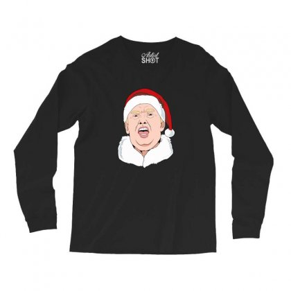 Sneezing Donald Trump Wearing A Santa Hat Christmas Long Sleeve Shirts Designed By Sr88