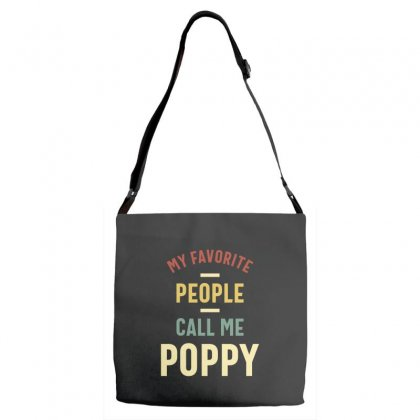 Mens My Favorite People Call Me Poppy Father's Day Gift Adjustable Strap Totes Designed By Cidolopez