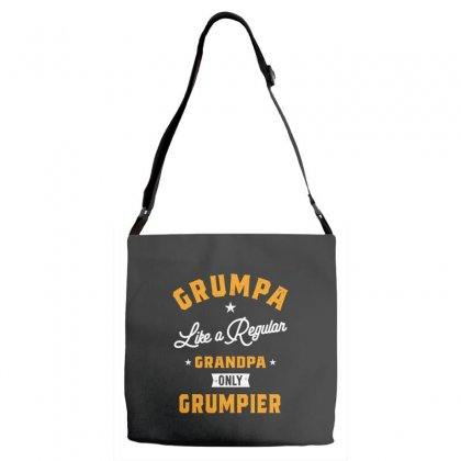Grumpa Like A Regular Grandpa Only Grumpier Papa Fathers Day Adjustable Strap Totes Designed By Cidolopez