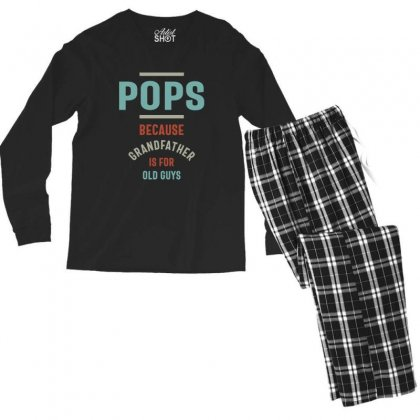 Mens Pops Because Grandfather Is For Old Guys Men's Long Sleeve Pajama Set Designed By Cidolopez
