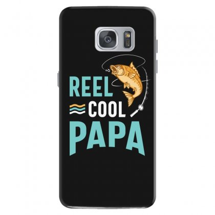 Reel Cool Papa Fishing Gift Father's Day Funny Samsung Galaxy S7 Case Designed By Cidolopez
