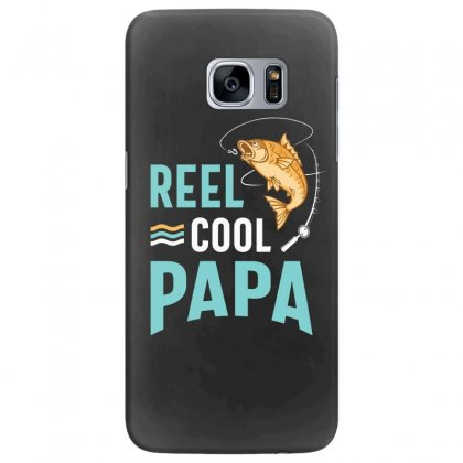 Reel Cool Papa Fishing Gift Father's Day Funny Samsung Galaxy S7 Edge Case Designed By Cidolopez