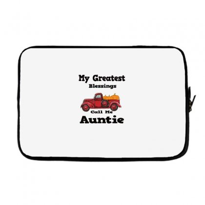 My Greatest Blessings Call Me Auntie Pumpkin Thanksgiving Laptop Sleeve Designed By Alparslan