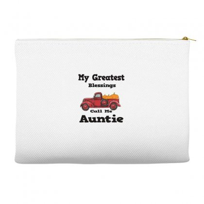 My Greatest Blessings Call Me Auntie Pumpkin Thanksgiving Accessory Pouches Designed By Alparslan