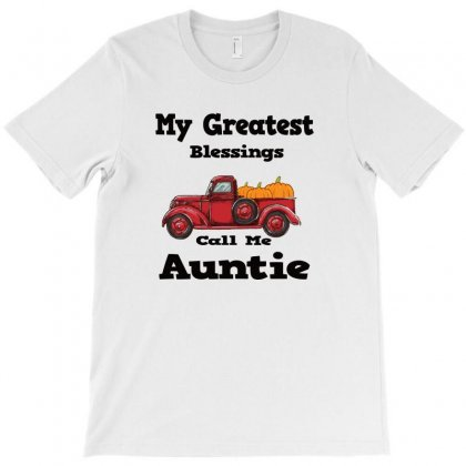 My Greatest Blessings Call Me Auntie Pumpkin Thanksgiving T-shirt Designed By Alparslan