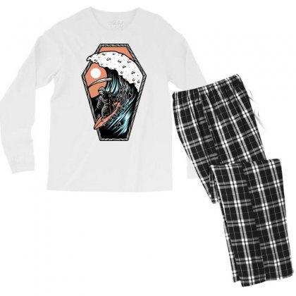 Surf Till Die Men's Long Sleeve Pajama Set Designed By Quilimo