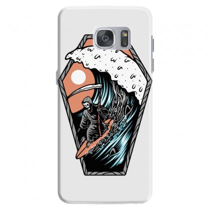 Surf Till Die Samsung Galaxy S7 Case Designed By Quilimo