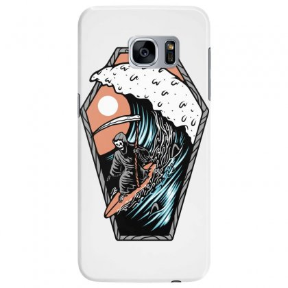 Surf Till Die Samsung Galaxy S7 Edge Case Designed By Quilimo
