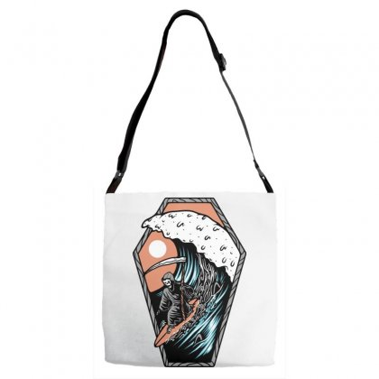 Surf Till Die Adjustable Strap Totes Designed By Quilimo