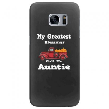 My Greatest Blessings Call Me Auntie Pumpkin Thanksgiving Samsung Galaxy S7 Edge Case Designed By Alparslan