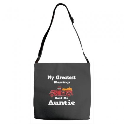 My Greatest Blessings Call Me Auntie Pumpkin Thanksgiving Adjustable Strap Totes Designed By Alparslan