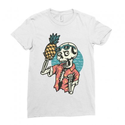 Pineapple Lover Ladies Fitted T-shirt Designed By Quilimo