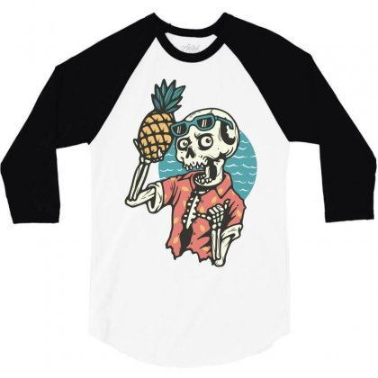 Pineapple Lover 3/4 Sleeve Shirt Designed By Quilimo